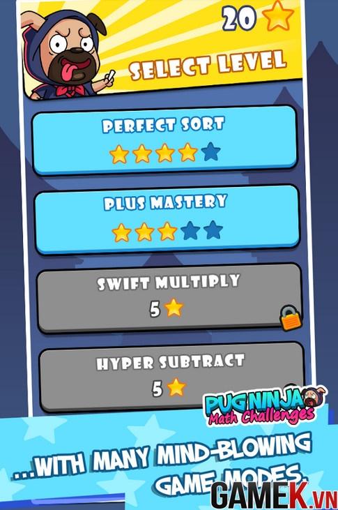 Pug Ninja: Math Challenges - Thử tài phản xạ với chú chó Ninja