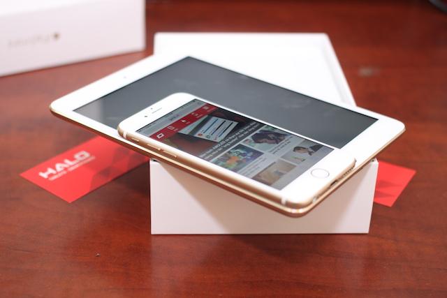 iPad mini 3 cùng iPad Air 2 là những chiếc iPad đầu tiên có phiên bản màu vàng.