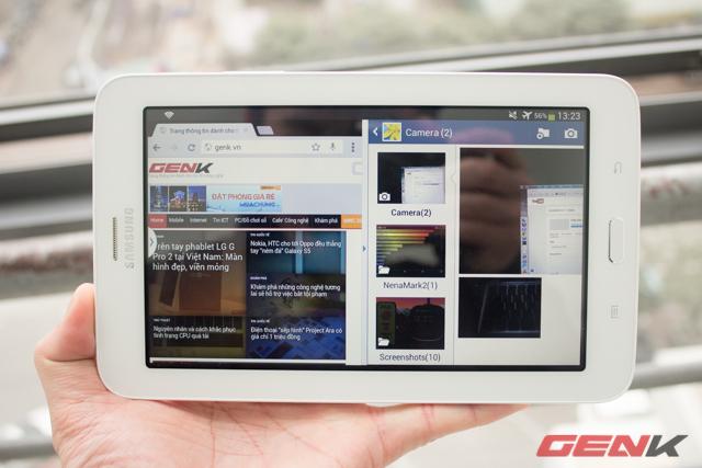 Với cấu hình không thật sự nổi bật nhưng Galaxy Tab 3 vẫn thể hiện khả năng chạy song song hai ứng dụng khá tốt.