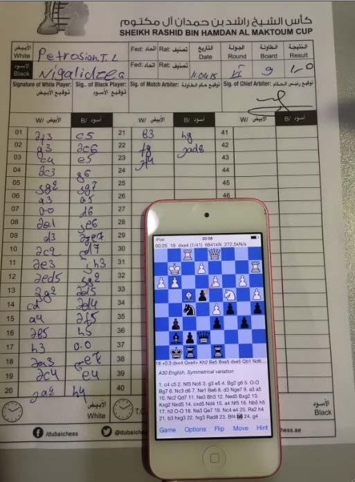Đại kiện tướng cờ vua dùng iPhone để gian lận