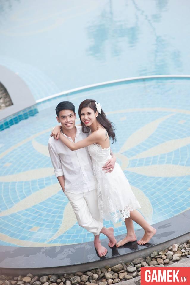 Ảnh cưới của anh Tiến Nguyễn với Trần Linh Trang - Một nữ game thủ Truy Kích