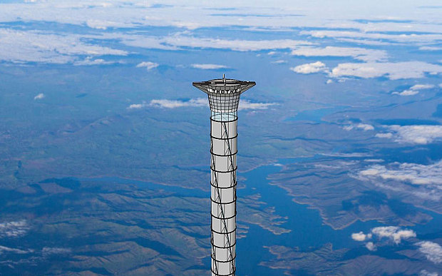 Ý tưởng chiếc thang máy khổng lồ