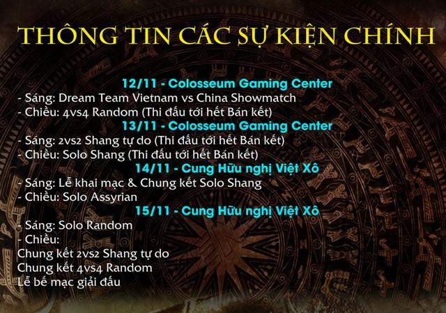 2 ngày thi đấu đầu tiên sẽ diễn ra tại Epic Gaming Center thay vì Colosseum như dự kiến ban đầu.