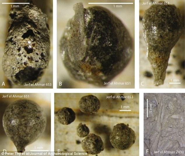 Các nhà nghiên cứu đã nghiên cứu những hạt li ti của mảnh vỡ tan tìm thấy tại các địa điểm khảo cổ ở Syria và thấy rằng họ dường như đã được tạo ra bởi con người gây ra vụ cháy như bùn đất sử dụng để xây dựng những ngôi nhà thời đồ đá tan chảy