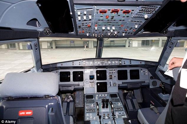 Các cơ chế khóa cửa là trên điều khiển trung tâm, hình, vì vậy nó có thể được vận hành bởi một trong hai phi công