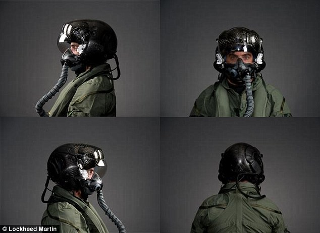 Complex: The six infrared cameras placed around the plane means that when the pilot looks down, they see the world below them in their visor - and can target weapons