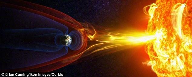 Lá chắn bảo vệ của Trái đất đang dần suy yếu, cho phép cơn gió mặt trời có hại xâm nhập vào khí quyển