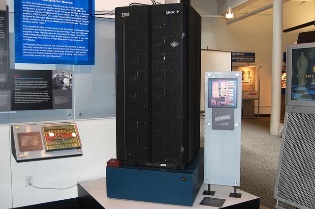 Siêu máy tính Deep Blue của IBM hiện được trưng bày trong viện bảo tàng.