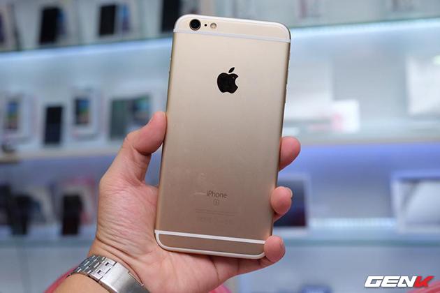 iPhone 6s Plus màu vàng.