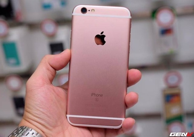 iPhone 6s màu vàng hồng.