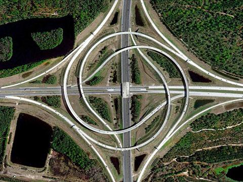 Một nút giao thông khác: Turbine, Jacksonville, Florida, Mỹ