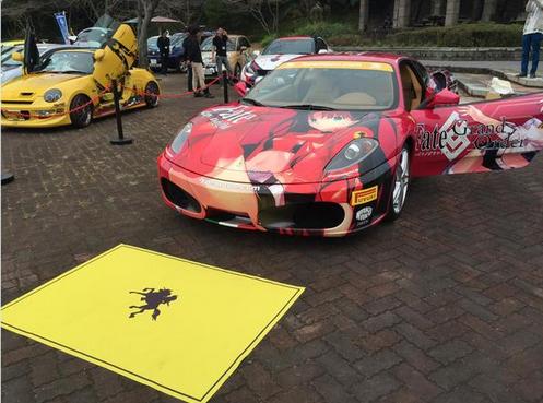 Chiếc xe Ferrari theo phong cách anime nổi bật giữa dàn xe triển lãm