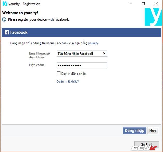 Ở đây tôi sử dụng tài khoản Facebook để đăng nhập thay vì tạo một tài khoản mới.