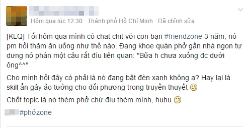 Rất nhiều câu chuyện về ám ảnh bị friendzone được game thủ Việt chia sẻ