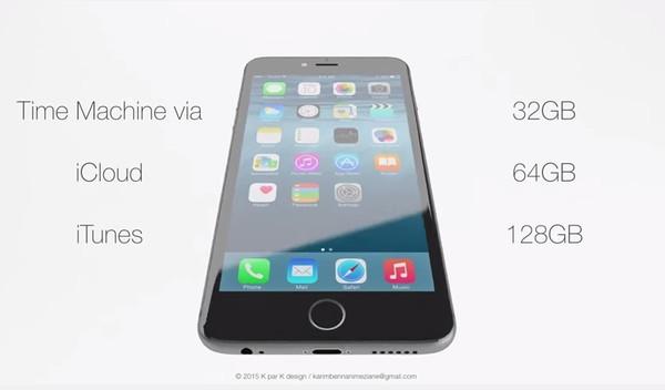 Trong bản thiết kế, iPhone 6S có phiên bản bộ nhớ trong tối thiểu 32GB.