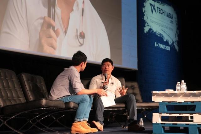 Anthony Tan (phải) - Đồng sáng lập và CEO của Grabtaxi