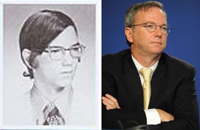 Chân dung Chủ tịch Google, Eric Schmidt, khi ông đang học tại trường Trung học Yorktown tại Virginia