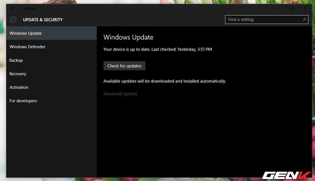 Các lỗi và cách khắc phục trên Windows 10 (Phần 5)