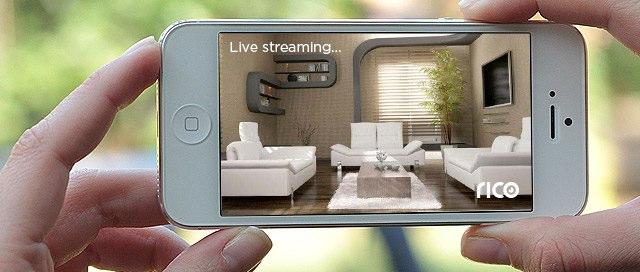 Xem khung cảnh của ngôi nhà từ xa với khả năng truyền tải video từ Rico.