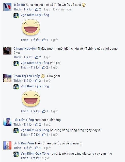 Cộng đồng game thủ tỏ ra khá sốc trước status được đăng tải trên Fanpage Vạn Kiếm Quy Tông.