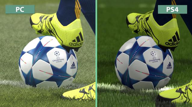 Những hình ảnh nhợt nhạt của PES 2016 PC so với PS4.