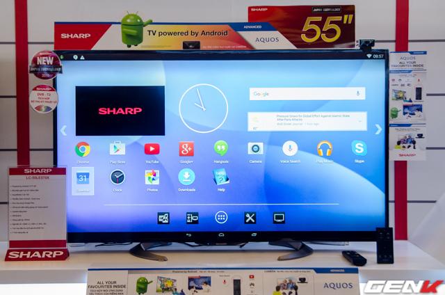 Dòng TV Full HD chạy Android Kitkat.