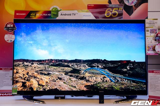 TV Sharp 4K kích thước màn hình 65 inch sẽ được bán với giá 60 triệu đồng.