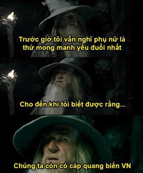 Pháp sư hùng mạnh của Middle-earth trong thế giới Chúa tể của những chiếc nhẫn cũng phải giật mình về độ mỏng manh của cáp biển Việt Nam