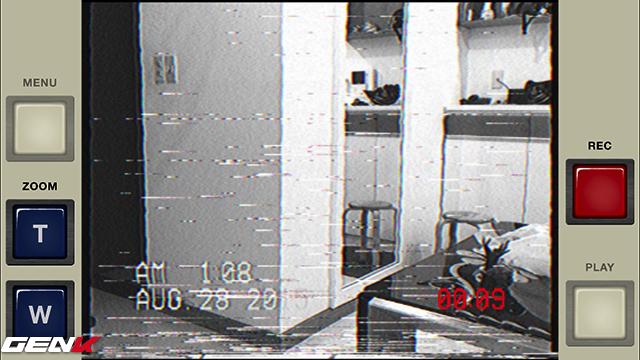 Vuốt màn hình trong lúc quay video để tạo thêm hiệu ứng nhiễu, rất thực tế.