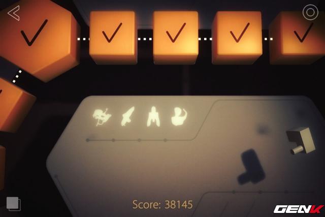 Các màn chơi được đo đếm bằng thời gian để quy ra điểm số. Ngoài ra bạn còn có các huy hiệu cho từng mốc chơi (hình phát sáng)
