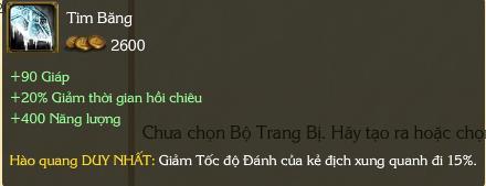 Chỉ số Tim Băng không được game thủ hổ báo yêu thích.