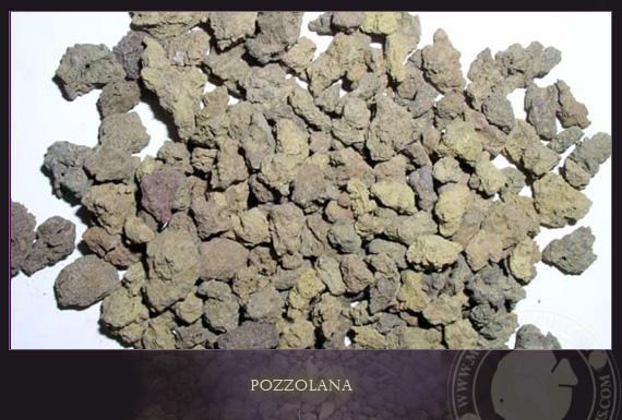 Tro núi lửa pozzolana - Bê tông thời cổ đại.