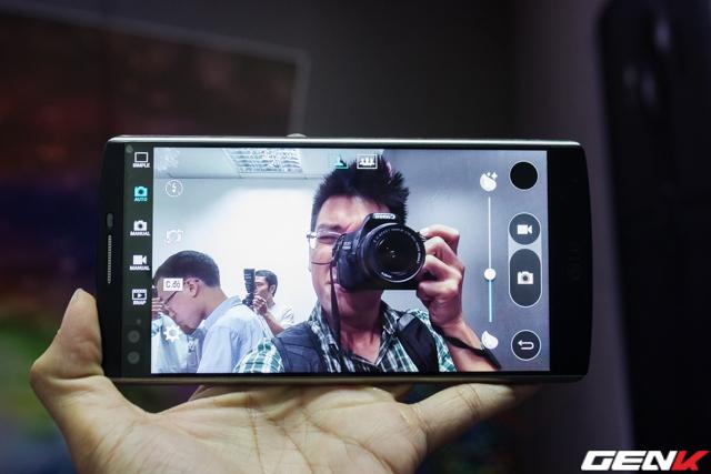 Chế độ selfie thông thường với góc 80 độ.