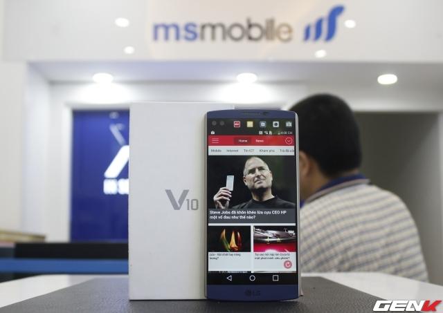 Phiên bản LG V10 màu xanh với bộ khung bọc kim loại sang trọng