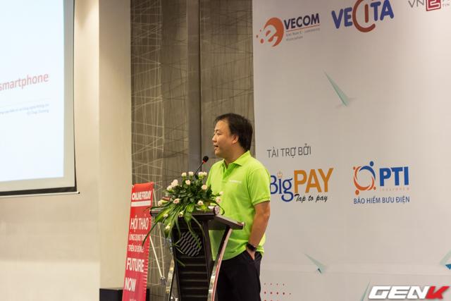 Ông Trần Hữu Linh, Cục trưởng Cục TMĐT và CNTT phát biểu trong buổi hội thảo.