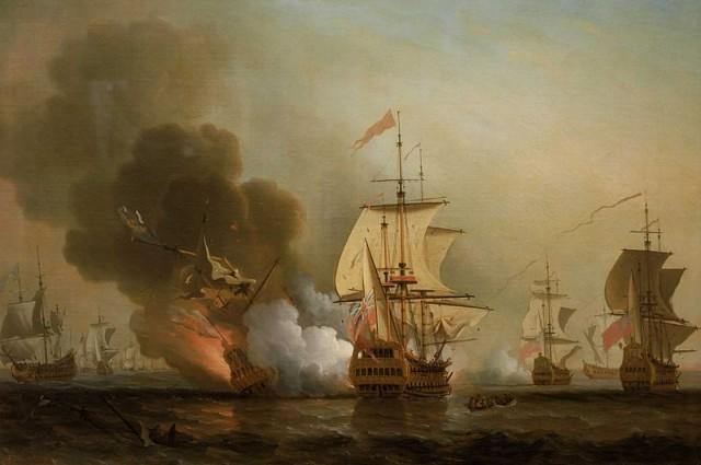 Hình ảnh về trận hải chiến gần cảng Cartagena.