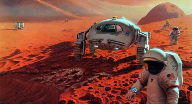 Đổ bộ lên Sao Hỏa sẽ là bước đi đầu tiên để thực hiện những cuộc di cư ra ngoài vũ trụ.