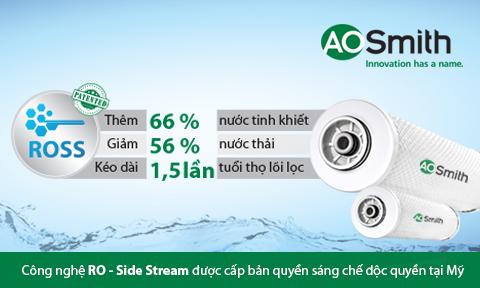 Công nghệ RO Side-Stream siêu tiết kiệm
