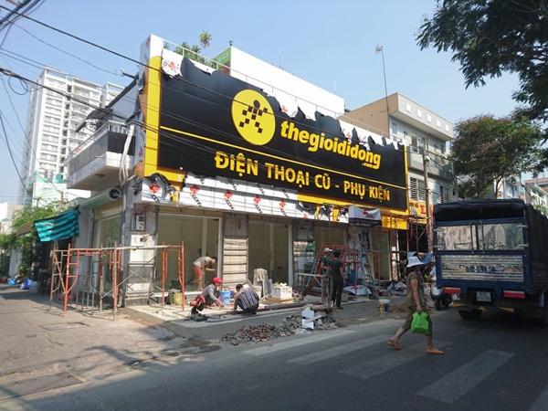 Cửa hàng mới chưa khai trương của Thế Giới Di Động ở Tân Bình, TP.HCM - Ảnh: Trương Hữu Dũng