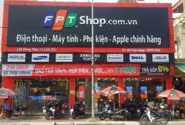 Một cửa hàng kinh doanh điện thoại, máy tính, phụ kiện... thuộc chuỗi bán lẻ FPT Shop ở Hải Phòng - Ảnh: FPT