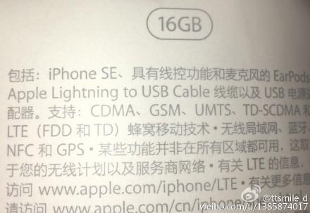iPhone SE sẽ chỉ sở hữu dung lượng bộ nhớ trong 16 GB?