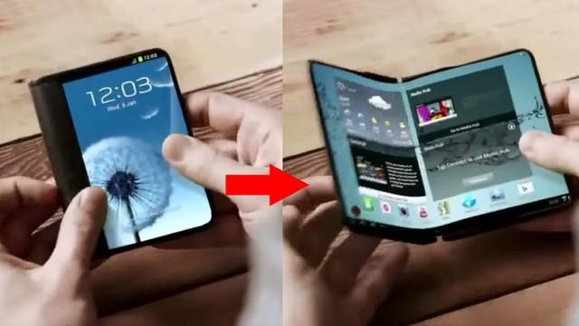 Ý tưởng smartphone màn hình gập của Samsung
