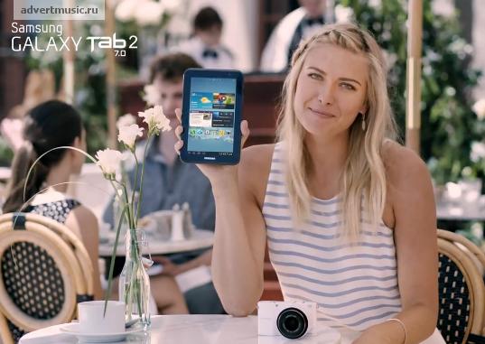 Kiều nữ quần vợt người Nga Maria Sharapova từ lâu đã là gương mặt đại diện của dòng máy tính bảng Samsung Galaxy Tab