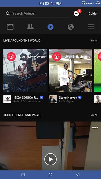 Một số người dùng thử nghiệm đã nhận được trang Video riêng trên ứng dụng Facebook của họ.