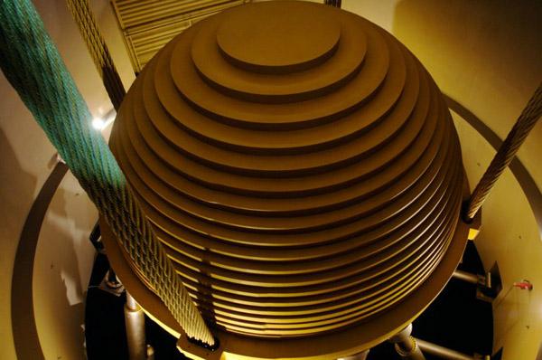 Quả cầu thép 730 tấn của tòa nhà Taipei 101, Đài loan.