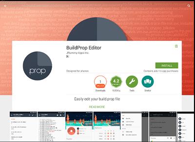 Build.prop Editor trên CH Play