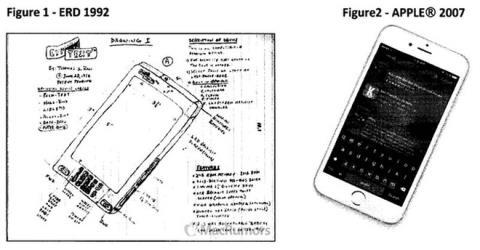 IPhone của Apple bị tố sao chép thiết kế có trên thiết bị Elecrtonic Reading Device