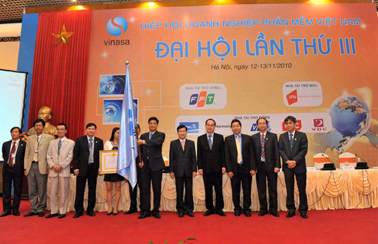 Đại hội lần thứ III của Hiệp hội Phần mềm và Dịch vụ CNTT Việt Nam (tên gọi cũ là Hiệp hội Doanh nghiệp phần mềm Việt Nam)