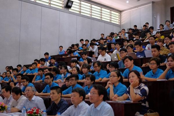 Một góc hội trường trong buổi Giao lưu phát động Giải thưởng Nhân tài Đất Việt hôm 10/6 - Ảnh: H.Đ