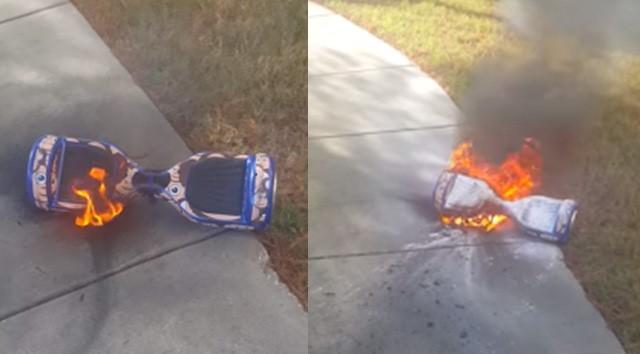 Hoverboard của Timothy Cade từ Florida phát nổ dù không cắm sạc. Ảnh: CNET.